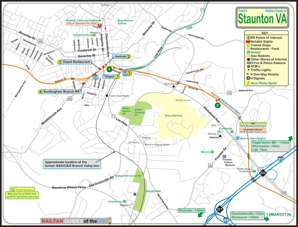 Staunton VA Railfan Guide