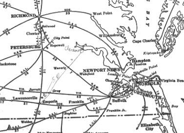 Suffolk VA Railfan Guide